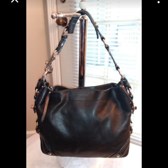 Coach Handbags - Coach Carly Black Leather Hobo Handbag 10615